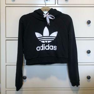 Adidas Womens Cropped Hoodie